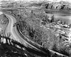 Historic Columbia River Highway at Rowena Crest (Gary L. Quay) Tags: rowena crest oregon washington columbia gorge river historic highway road hundredth anniversary birthday 100th pmk pyro deardorff nikkor ilford ortho plus 8x10 film large format landscape gary quay foolscape imagery