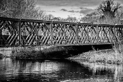 Bailey bridge (HHH Honey) Tags: minolta minolta100200mm sonya7rii bridge baileybridge military army structure riveravon fifield wiltshire winter 117picturesin2017 99bridgethegap 99 googlenikcollection silverefexpro blackwhite bw