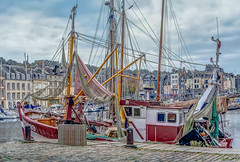 Fishing Boat in Honfleur Harbour. (capvera) Tags: honfleur normandie pêche fishing boat bateau normandy harbour bassin