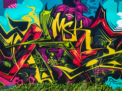 MSK (Steve Taylor (Photography)) Tags: halo msk oches art graffiti mural streetart black blue green mauve purple yellow white newzealand nz southisland canterbury christchurch addington heart