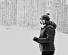 Snow (christian.riede) Tags: cold kalt face gesicht pudelmütze winterjacke woman frau mütze stall weis schnee schwarz snow back white falling monochrome