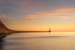 Roker Dawn (Glenn D Reay) Tags: roker sunderland lighthouse symmetry dawn colourful sea seaside pier clouds pentaxart pentax k30 sigma1770hsm glennreay