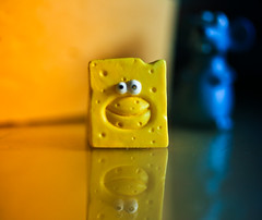 My Mother always said.. (Neal.) Tags: saycheese macromondays cheese macro mouse cartoon monday canon scotland blue yellow munch trap