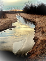 Agricultural Drain-Clinton County (nelhiebelv) Tags: county drain color sunset stream clinton