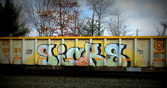 sicks (timetomakethepasta) Tags: sicks gsicks freight train graffiti art gondola csx csxt croe faves wh kbt writing history benching selkirk new york photography
