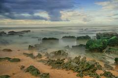 Beach and sky (Janos Kertesz) Tags: nature water sea rock sky coast landscape ocean beach blue stone vacation travel light cloud conildelafrontera costadelaluz andalusia spain