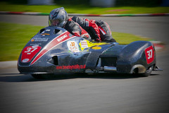 Sidecar team. (foto.pro) Tags: bike wales club speed duo motor welsh circuit laps tonfnau