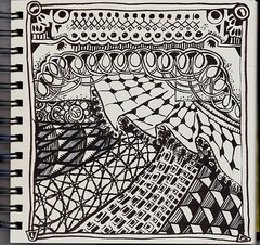 Battlefield (molossus, who says Life Imitates Doodles) Tags: zia zentangle zendoodle zentangleinspiredart