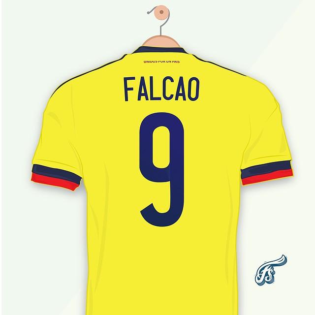 Yo apoyo al tigre @falcao con paciencia llegará /// I support Falcao #copamerica #falcao #colombia #freddysalas15 #fun #illustrator #illustration #gol #adidas #chile2015 #germany #cali #love #soccer