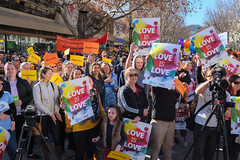 2015-06-21 Marriage Equality Demo-2511-2.jpg (Leo in Canberra) Tags: rally protest australia canberra marriageequality loveislove equallove nomoredelays shanerattenbury sallyrugg yvetteberry ebonyhollandbengrady samhayleywilson angieshillingtonallyhowe equalmarriagerightsnow 21june2015