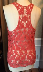 Lace & Flowers Tank Top - Before (nosmallfeet) Tags: sewing shirts refashions