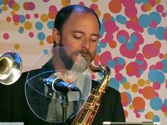 sax (gerben more) Tags: portrait people musician music man colors circle beard artist colours instrument microphone portret sax saxophone handsomeman