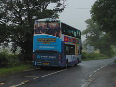 Photo of First Bristol 37326 WX57HKG passing Noah Ark Zoo Farm working Somerset & Avon service X6 to Clevedon.