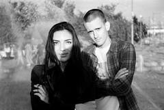 Galya + Maxim (Sasha Karlukov) Tags: friends summer portrait film rollei pull bessa retro 64 80s saintpetersburg r2 voigtlnder 2015 jupiter3