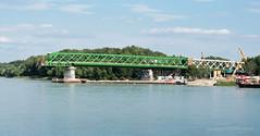 Bridge Reconstruction in Progress on Bratislava Danube (johan.pipet) Tags: new old city bridge canon river europe eu most slovensko slovakia duna palo bratislava danube reconstruction donau bartos rieka petrzalka dunaj barto