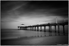 "Manhattan Beach Pier (James A. Crawford - ""Crawf"") Tags: ocean california longexposure wallpaper sky blackandwhite bw usa white seascape black art beach nature water monochrome photoshop canon eos blackwhite waves fineart creative redondo canoneos digitalphotography ebb edges longexposures ndfilter ebbtide creativephotography neutraldensityfilter neutraldensity blackwhitephotos cs5 efex natureplus innamoramento niksoftware creativedigitalphotography tonalcontrast blackandwhiteonly creativepostprocessing dfine20 viveza2 silverefexpro2 colorefexpro4 imageborders"