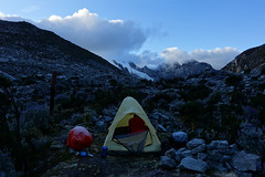 After a wet and frosty night (*Andrea B) Tags: camping camp mountain lake mountains peru southamerica june america spring south lakes blanca laguna cordillera nevado quebrada sesenta nueve laguna69 cordillerablanca llanganuco sesentaynueve chacraraju quebradallanganuco june2015 spring2015 peruandesguide
