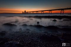Ghosts In The Mist (philrdjones) Tags: longexposure sunset sea mist water night pier ghost july clevedon bristolchannel 2015 triggertrap