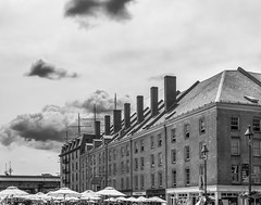 South Street Seaport (Gimo Nasiff) Tags: street new york city nyc travel urban bw monochrome arquitetura architecture clouds photography downtown manhattan south samsung guillermo architectural architektur architettura seaport 30mm gimo nx30 nasiff
