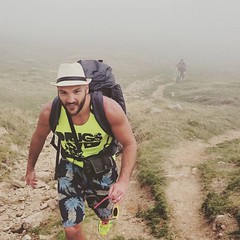 On The Camino (Ben Heine) Tags: life santiago boy mountain man france bag healthy spain camino walk hill sac health santiagodecompostela espagne challenge marche ballade chemin fit pilgrim randonne marcher plerin saintjeanpieddeport plrinage dfis benheine