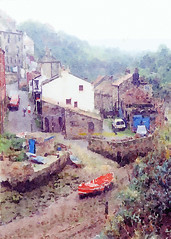 staithes 3 (zaphad1) Tags: staithes waterlogue iphone ipad ipod app watercolor watercolour digital art painting fishing boat village no copyright public domain england uk scene landscape zaphad1 creative commons