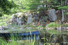 Tranquility (ATouchofCrazy) Tags: lake nature water river fishing rocks quiet relaxing paddle peaceful canoe explore loonlake wilderness murphyspointprovincialpark augustholiday4
