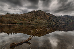 Sticks and Stones...  [Explored December 8th 2016] (fearghal breathnach) Tags: sticksandstones glendalough glendaloughlake lake reflection reflections wicklow wicklowmountains clouds water longexposure daybreak forest symmetry leadinglines ireland canoneos5dmarkiii canon haida leefilters