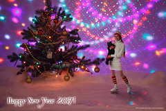 Happy New Year 2017 and Merry Christmas! (Annabelle Danchee) Tags: art artist creative day live new love beautiful danchee annabelle woman portrait people dancheeannabelle annabelledanchee selfportrait canon photo photography photos photomontage fun magic dslr little littleannabelle adventure bokeh