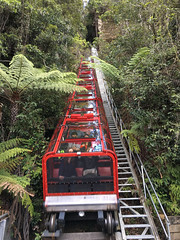 Coming down (smurfie_77) Tags: brisbanetosydney roadtrip newsouthwales nsw thebluemountains nationalpark scenicworld themepark katoomba scenicrailway steepestrailwayintheworld worldssteepestrailway cliffhanger