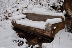 Snowy Bench Monday! (Jake (Studio 9265)) Tags: snow covered charlestown state park indiana usa united states america january 2017 winter white outside outdoor photography bench log cut wood trail