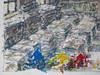 Wolfram Zimmer: Stacked thoughts - Gedankenstapel (ein_quadratmeter) Tags: wolframzimmer bilder kunst malerei gemälde wolfram zimmer konzeptkunst objektkunst mein freiburg burg birkenhof kirchzarten ausstellung ausstellungen peinture exhibition exhibitions bleistift zeichnung zeitung stapel arbeitstisch pencil drawing newspaper stack work strasen streets