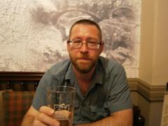 P7230111 (rugby#9) Tags: betwsycoed gwynedd northwales wales uk unitedkingdom cymru blueshirt shirt blue cushion bitter blacksheep beer glass people