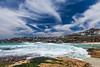 life's a beach (nzfisher) Tags: beach surf surfing sea seascape landscape coastline coast waves sky clouds cloudy bondi sydney nsw australia 24mm canon tamarama blue