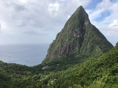 St. Lucia view from Ladera Resort