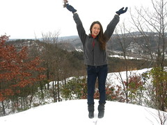 Mattatuck Forest, Watertown, CT. (chescrowel) Tags: snow hiking happy girl teen teenager winter valley view newengland connecticut ct fashion cold thomaston leatherman