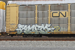 AMFM (LL052) Tags: kerse amfm crew all metal freight militia autorack train graffiti