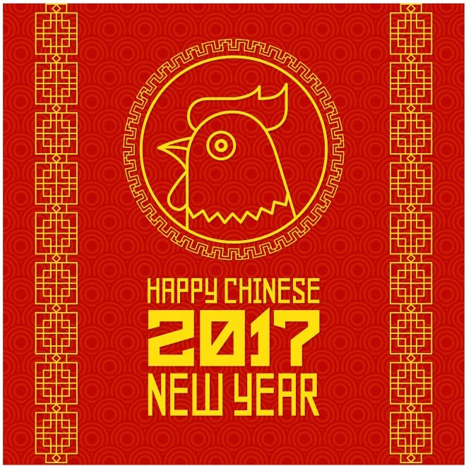 free vector happy chinese new year 2017 rooster background cgvector tags 2017 abstract