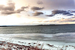 Snow on the Lake (@marinastory) Tags: lakechamplain lake landscape sunset vermont vt winter clouds weather