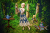 The garden tea party (sophie_merlo) Tags: fantasy surreal tea iguana teaparty model surrealist art photoshop composite reptiles garden summer animals