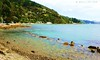 285. BEACHY: Mahina Bay (www.YouTube.com/PhotographyPassions) Tags: beach landscape seascape coast water bay blue cove shore seaside rocks hills sea marine mlpphlandscape waterfront