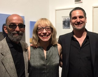 Louis Canales, Fran Kaufman and Michael Huter at The Sagamore art exhibition opening