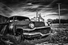 broken down rusty blues...(studebaker graveyard) (Aces & Eights Photography) Tags: abandoned abandonment decay ruraldecay oldcar abandonedcar studebaker