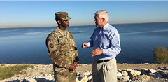 Pete Sessions at the Lake Lewisville Dam