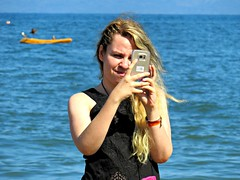 Selfie Robot (knightbefore_99) Tags: dumb sad pathetic drone sol sun sea despair rincon guayabitos girl phone cell mobile insecure mexican mexico