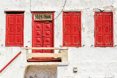 Facade (Kevin R Thornton) Tags: d90 shutter nikon window travel facade greece mediterranean mykonos architecture door mikonos egeo gr