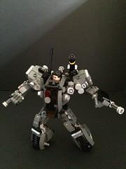 24. NMS-01 Leg Pose Support 3 (Sam.C MOCs S2 Studios)) Tags: robot lego military scifi mech moc hardsuit