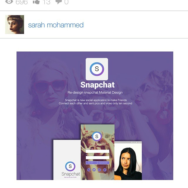 #snapchat #design #behance #purple re design snapchat http://ift.tt/1BLKqIR