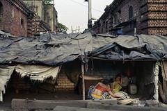 Kolkata, India, 2015 (Philip Solovjov) Tags: street city people urban india house film architecture analog 35mm nikon cityscape decay indian nikkor agfa kolkata nikonfe calcutta slums westbengal  nikkor50mmf18ai poundlandfilm agfavistaplus200