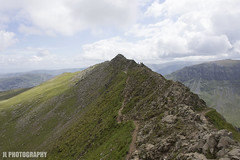 Striding Edge: In all its Awesomeness (JoshJackson84) Tags: uk england mountain mountains europe hill lakes lakedistrict peak hills ridge cumbria stridingedge helvellyn canon1855mm canon60d