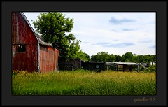 Corner of the Barn (the Gallopping Geezer 3.5 million + views....) Tags: old mi barn rural canon decay michigan farm country farming faded worn weathered decayed barnyard geezer corel 6d 2015 fowlerville tamron28300